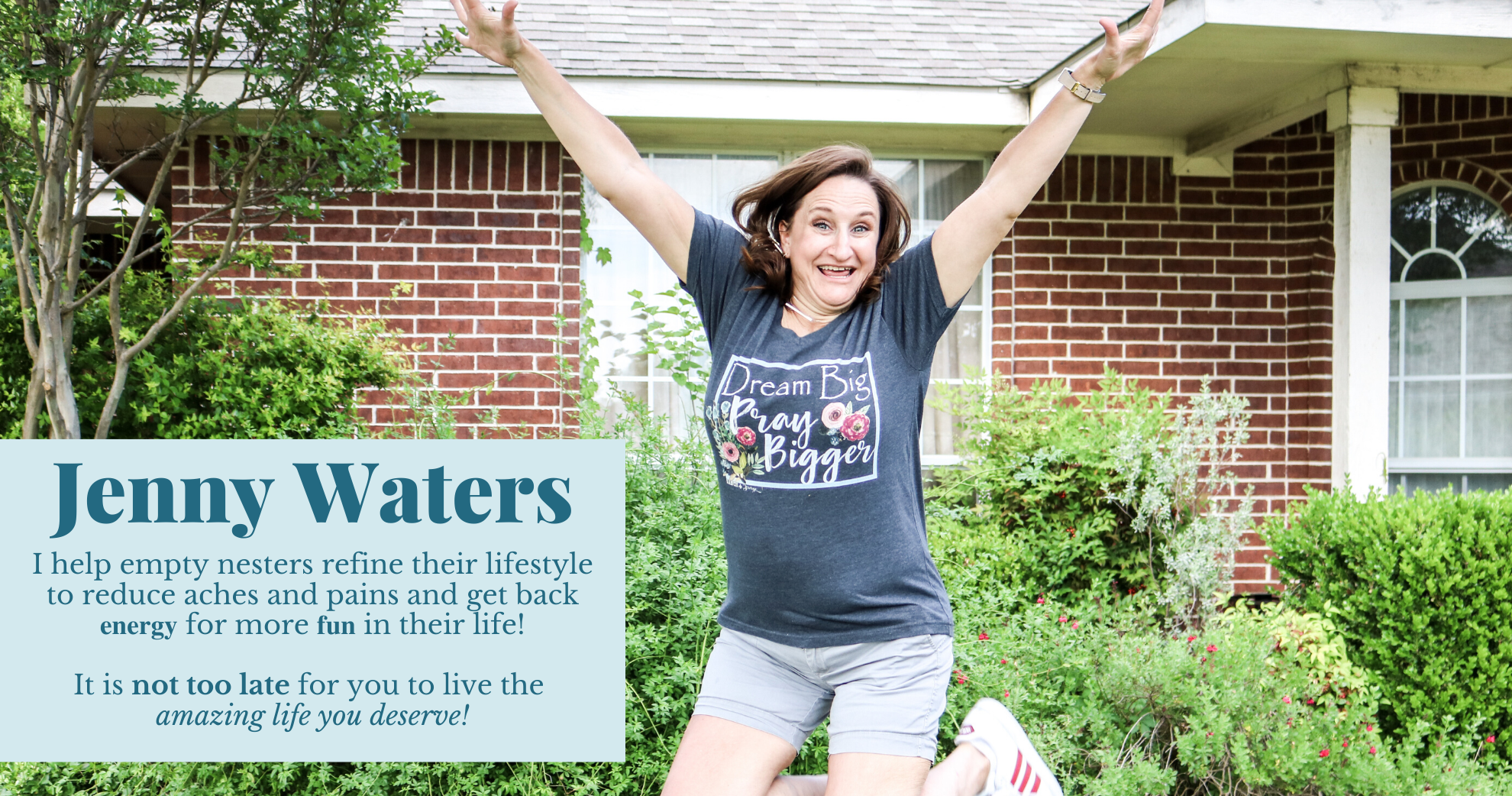 Jenny Waters | I help empty nesters refine their lifestyle to reduce aches and pains and get back 𝐞𝐧𝐞𝐫𝐠𝐲 for more 𝐟𝐮𝐧 in their life!
